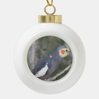 Oiseau de Cockatiel Boule En Céramique