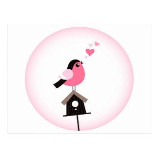 Oiseau de coucou appelle la carte postale de
