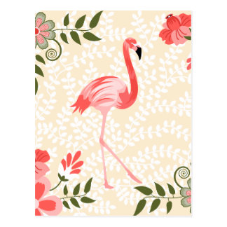 Oiseau de flamant carte postale