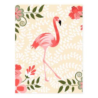 Oiseau de flamant cartes postales