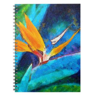 oiseau de fleur de paradis carnet