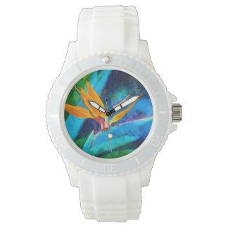 oiseau de fleur de paradis montres bracelet