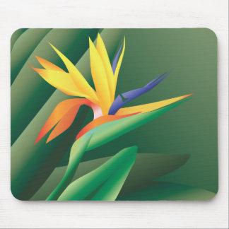Oiseau de fleur de paradis Mousepad Tapis De Souris