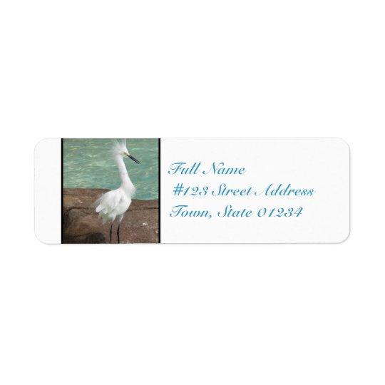 Oiseau de héron de Milou Étiquette D'adresse Retour