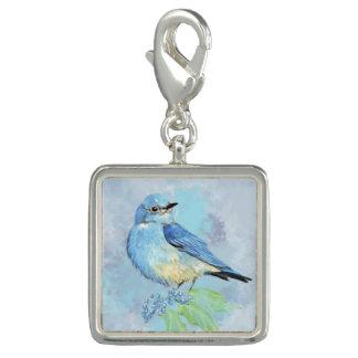 Oiseau de jardin de raisin d'Orégon d'oiseau bleu Breloques Avec Photo