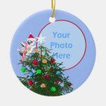 Oiseau de Joyeux Noël - bébé premier (cadre de Décoration De Noël