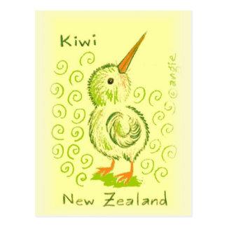 Oiseau de kiwi de la Nouvelle Zélande Carte Postale