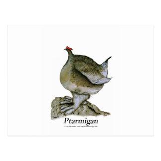 Oiseau de lagopède alpin, fernandes élégants cartes postales