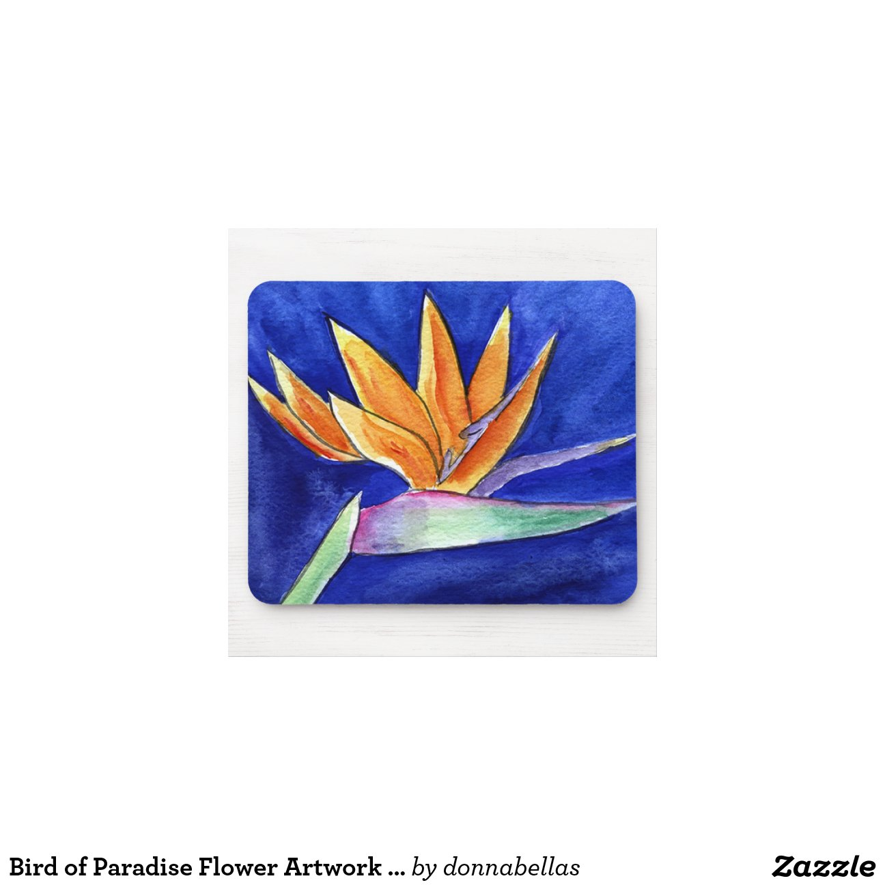 oiseau de l 39 illustration de fleur de paradis peign tapis de souris zazzle. Black Bedroom Furniture Sets. Home Design Ideas
