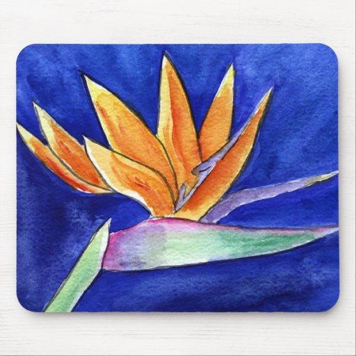 oiseau de l 39 illustration de fleur de paradis peign tapis. Black Bedroom Furniture Sets. Home Design Ideas
