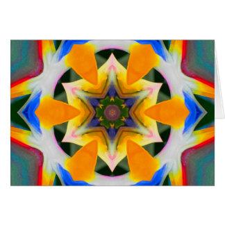 Oiseau de mandala d'étoile de paradis cartes de vœux