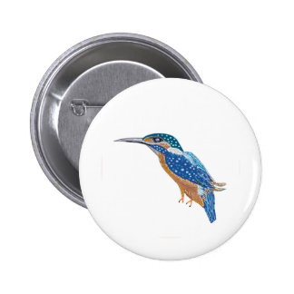 Oiseau de martin-pêcheur badge