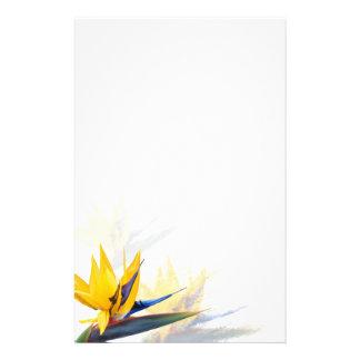 Oiseau de papier à lettres de blanc de paradis papier à lettre