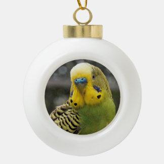 Oiseau de perruche boule en céramique
