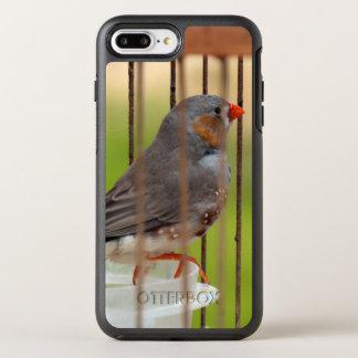 Oiseau de pinson de zèbre dans la cage coque otterbox symmetry pour iPhone 7 plus