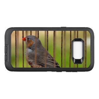 Oiseau de pinson de zèbre dans la cage coque samsung galaxy s8+ par OtterBox defender