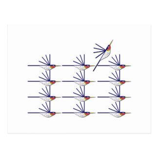 Oiseau de ronflement carte postale