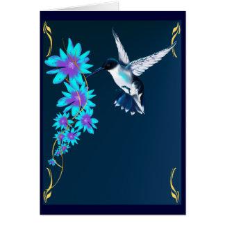 Oiseau de ronflement dans la carte bleue