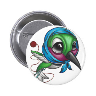 Oiseau de ronflement de grand-maman badges