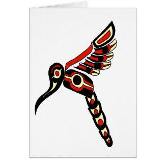 Oiseau de ronflement de Haida Carte De Vœux