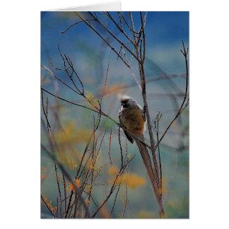 Oiseau de souris dans l'arbre carte de vœux
