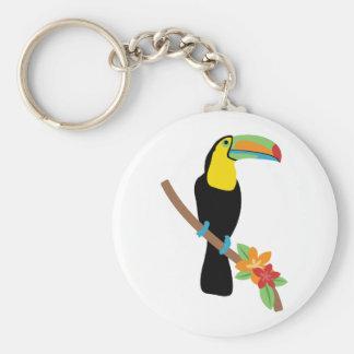 Oiseau de toucan porte-clé rond