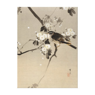 Oiseau de Watanabe Seitei sur une branche Toile