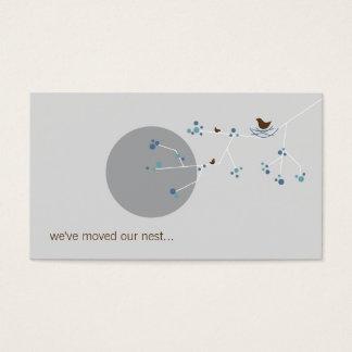 Oiseau d'emboîtement + Adresse debut de piste Cartes De Visite