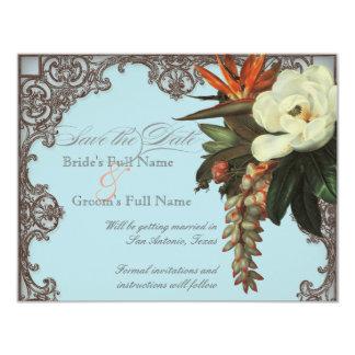 Oiseau des magnolias n du paradis - faites gagner carton d'invitation 10,79 cm x 13,97 cm