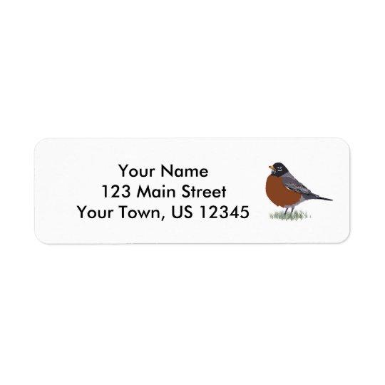 Oiseau dessiné par Digital rouge de Robin Étiquette D'adresse Retour