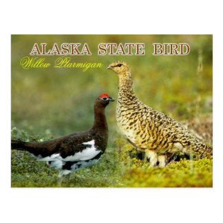 Oiseau d'état de l'Alaska - lagopède alpin de Carte Postale