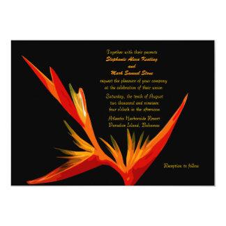Oiseau d'invitation de paradis carton d'invitation  12,7 cm x 17,78 cm
