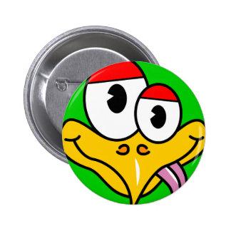 Oiseau drôle de bande dessinée badges