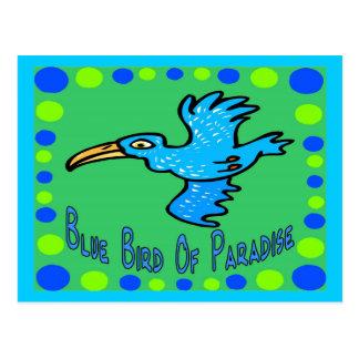 Oiseau du paradis bleu 3 cartes postales