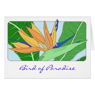 Oiseau du paradis carte de vœux