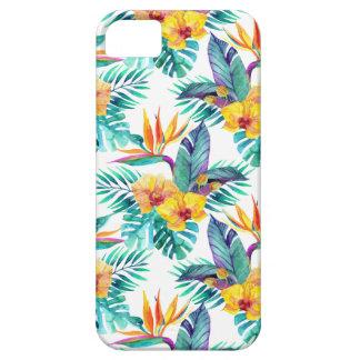 Oiseau du paradis et du motif d'orchidée coque iPhone 5 Case-Mate
