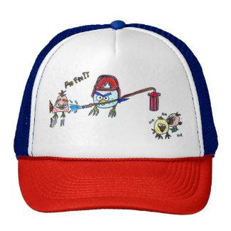 Oiseau en colère pompier casquettes de camionneur