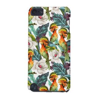 Oiseau et motif de fleur exotique coque iPod touch 5G