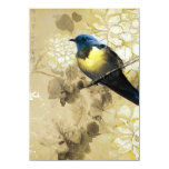Oiseau jaune bleu de grive - art de peinture bristols