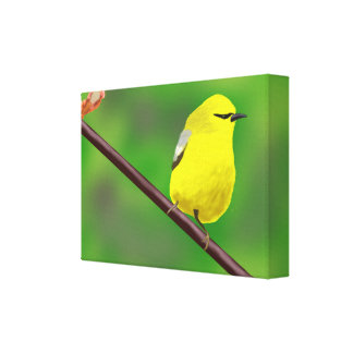 Oiseau jaune toile