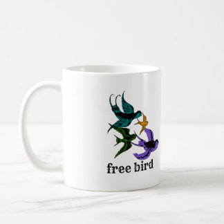 Oiseau libre - tasse de café