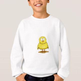 Oiseau lunatique de poussin de bébé sweatshirt
