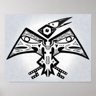 Oiseau-Man - affiche 11x14 d'art de Natif américai