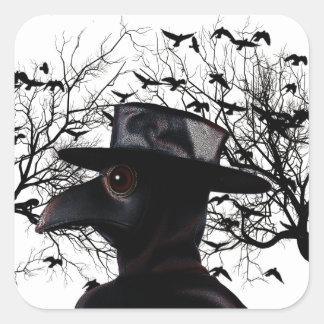 Oiseau-man Sticker Carré