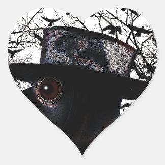 Oiseau-man Sticker Cœur