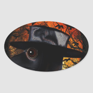 Oiseau-man Sticker Ovale