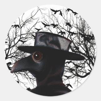 Oiseau-man Sticker Rond