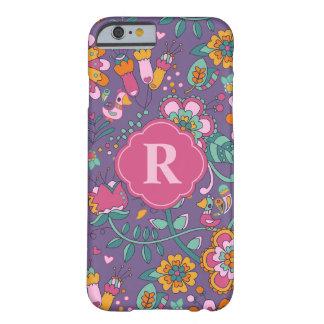 Oiseau mignon et cas floral de téléphone de motif coque barely there iPhone 6