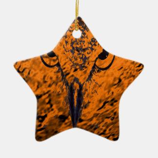 oiseau ornement étoile en céramique