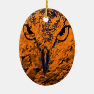 oiseau ornement ovale en céramique